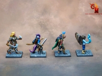 3d Printed miniatures painted to level 4 quality