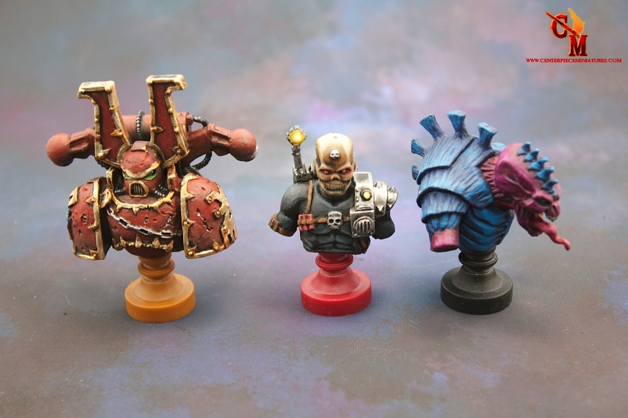 Relic Nemesis completed Busts - Centerpiece Miniatures