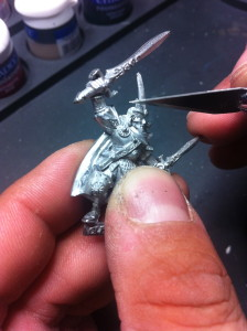 Tues's Tutes - Cleaning Miniature - Miniature being cleaned