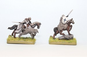Robb and Rickard painted from Battle of Westeros