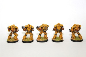 Imperial Fist Librarian and Tactical Squad