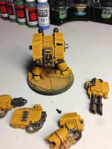 Imperial Fist Dreadnaught Primed