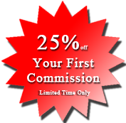 25% Off Your First Commission Sale
