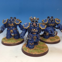 Ultramarine Centurions and Librarian