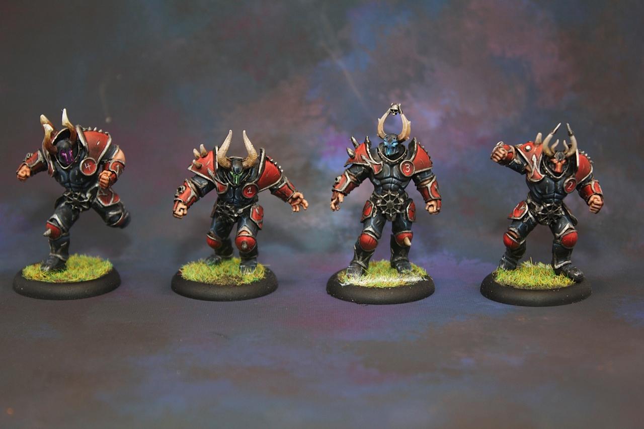 Chaos blood bowl team centerpiece miniatures
