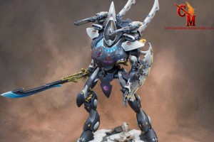 Eldar Wraith Knight with magnetised weapons
