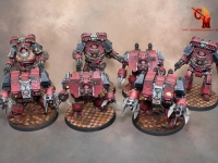 Word Bearer Contemptor Dreadnoughts