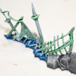 Painting Dreadfleet Wrecks and Islands Step 8