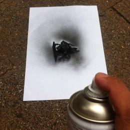 Undercoating a miniature in black