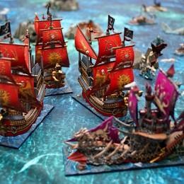 Painted Dreadfleet Boardgame