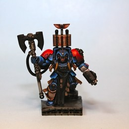 Space Hulk Blood Angel Librarian painting in progress