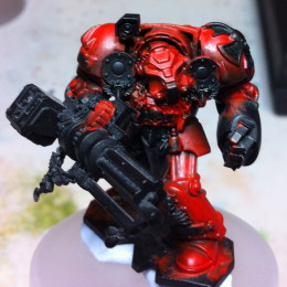 Painting Space Hulk Blood Angel Terminator